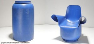 Fotel designerski z plastikowej beczki
